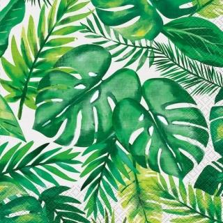 Парти салфетки Хавайско тропическо парти 16 бр в пакет, Palm Tropical Luau