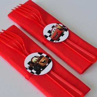 Парти комплект салфетка и вилица Маккуин, 5 бр. пакет