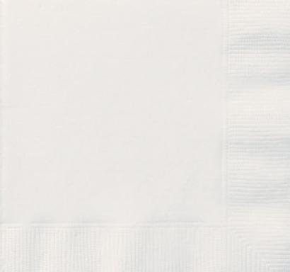 Парти салфетки бели, 20 бр в пакет