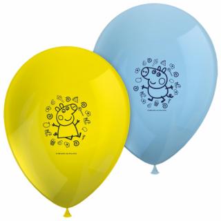 Комплект 8 бр. балони с печат Пепа Пиг, микс цветове /жълт и син/, /Gd/