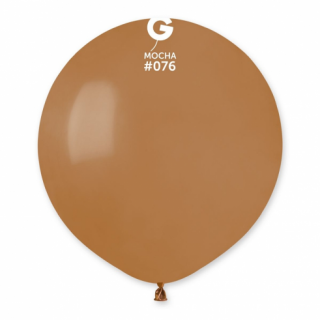 Балон кафяв мока кафе пастел, 48 см диаметър, Gemar G150 /Gd/