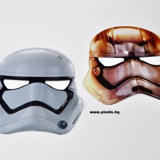 Парти маски Междузвездни Войни, 6бр. пакет, лицензирани Дисни