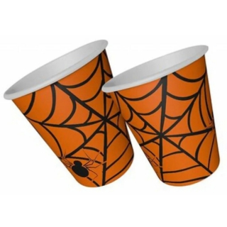 Хартиена парти чашка Хелоуин / Halloween, 8 бр. в опаковка