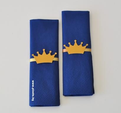 Парти салфетки златна Корона 33х33 см