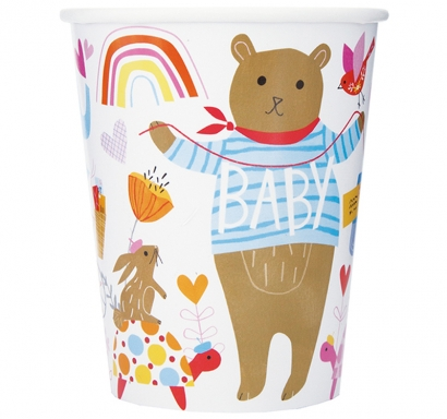 Хартиена парти чашка Зоо Бебе, Животни, 250 мл, Zoo Baby, 8 бр. в опаковка