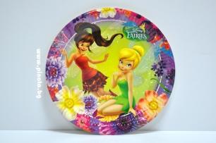 Хартиена парти чинийка Тинкърбел Камбанка 23 см, лицензирани