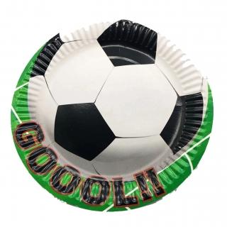 Хартиена парти чинийка Футбол, топка, 10 бр. в опаковка