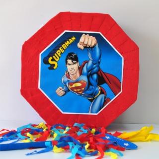 Пинята Супермен 40х40 см, две лица