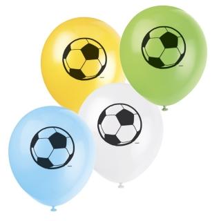 Балон с печат Футбол 3D, диаметър 30 см, 8 бр. в пакет микс цветове, лицензирани