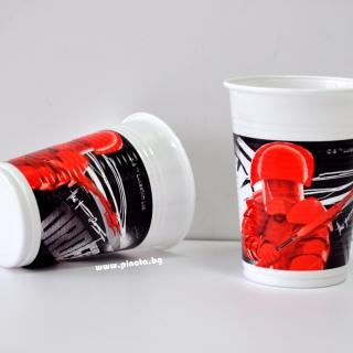 Пластмасова парти чашка Междузвездни Войни 200 мл, лицензирана Дисни