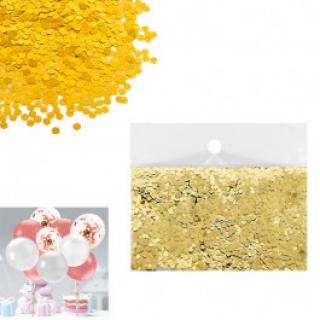 Конфети за балони цвят злато