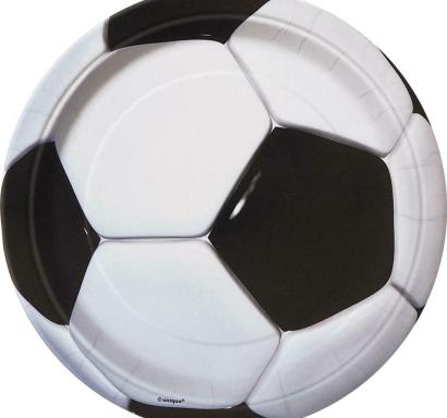 Хартиена парти чинийка 3D Футбол / 3D Soccer, 18 см лиценз