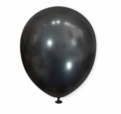 Балон хром черен графит, диаметър 30 см