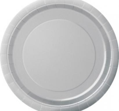 Хартиена парти чинийка сребърна, 18 см