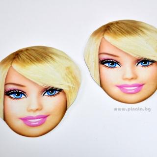 Парти маска Барби, 6 бр. пакет