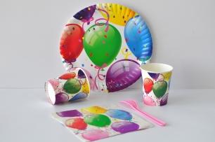 Хартиена парти чашка 270 мл Балони Рожден Ден