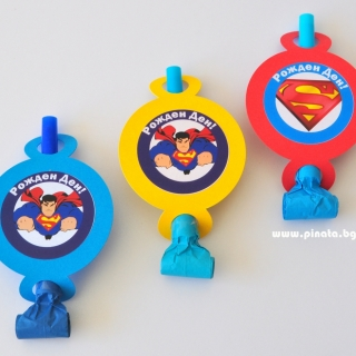 Персонализирана парти свирка Супермен