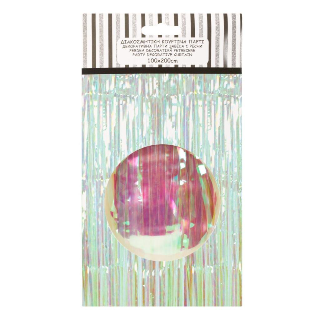 Ресни за декорация на стена  /ПВЦ/ лъскави, преливащи /холограмни/ цветове, 100х200см