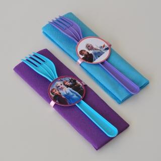 Парти комплект салфетка и виличка Замръзналото Кралство 2 Елза и Ана 33х33 см