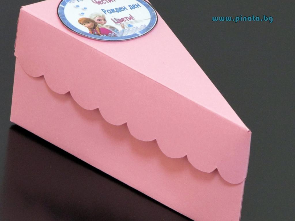 Хартиена торта с тематична декорация и персонализация Замръзналото Кралство