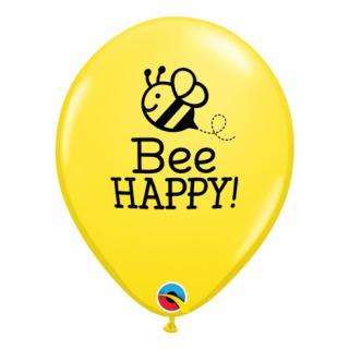 Балон Пчела Би Хепи / Bee Happy - 30 см. 5 бр. в опаковка, Qualatex /Gd/