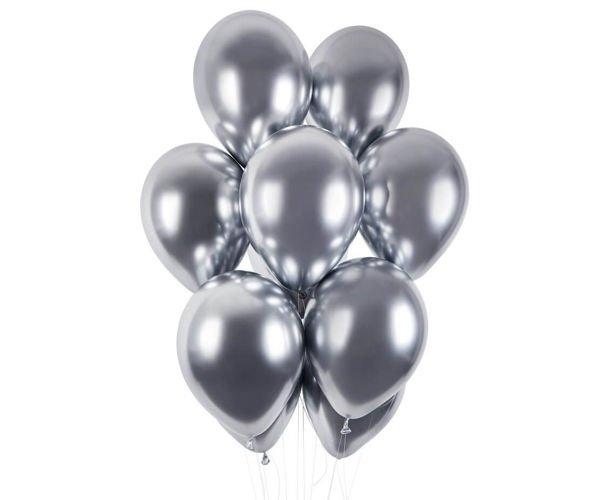 Балон хром сребро, диаметър 33 см Gemar Италия