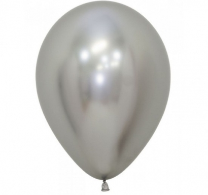 Балон хром сребро, диаметър 30 см