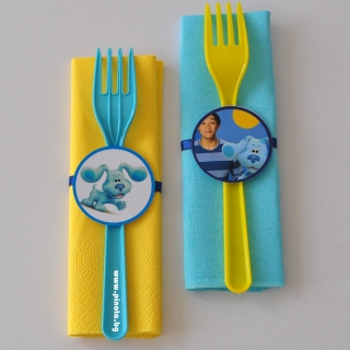 Парти комплект салфетка и вилица Загадките на Блу