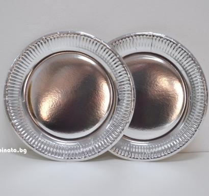 Хартиена парти чинийка Сребро / Silver Paper Plates