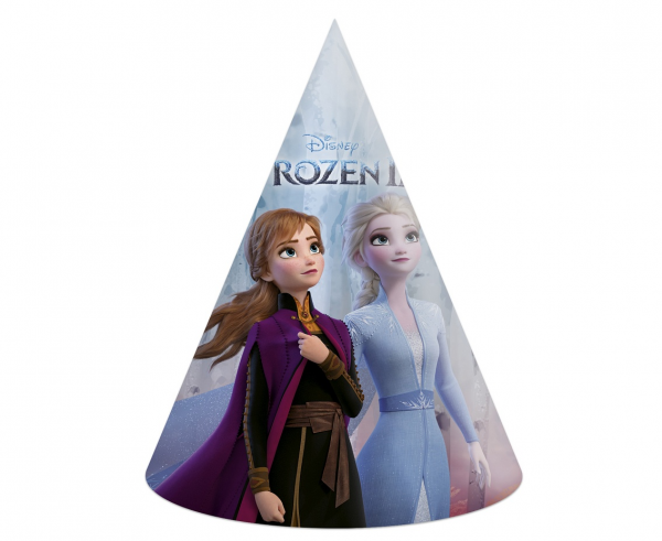 Парти шапка Елза и Ана Замръзналото Кралство 2 / Frozen 2,  6 бр. в опаковка /Gd/
