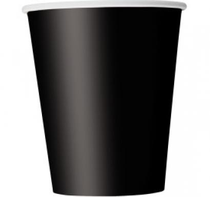 Хартиена парти чашка черна 250 мл