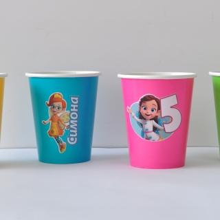 Персонализирана хартиена парти чашка 270 мл Кафенето на Масленка