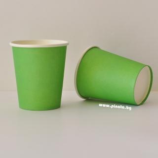 Хартиена парти чашка, 240 мл зелена