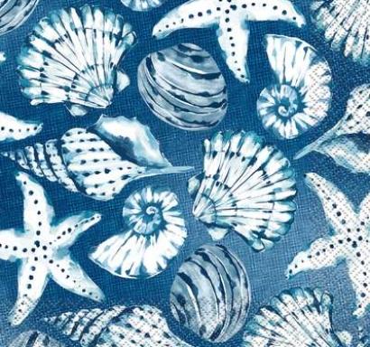 Парти салфетки Морско дъно 16 бр в пакет, Blue Reef