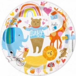 Хартиена парти чинийка Зоо Бебе 18 см, Zoo Baby