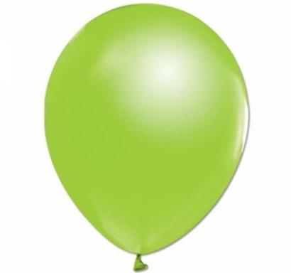 Балон светло зелено металик, диаметър 30 см, 10 бр. в пакет