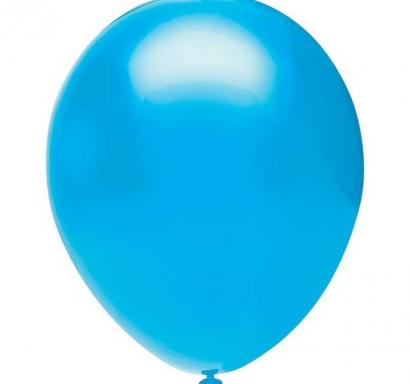 Балон светло синьо пастел, диаметър 30 см, 10 бр. в пакет