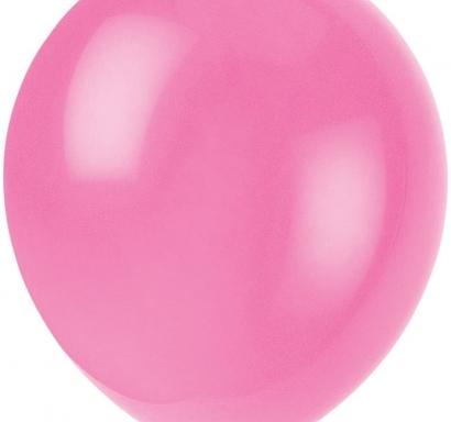 Балон розов дъвка пастел, диаметър 30 см, 10 бр. в пакет