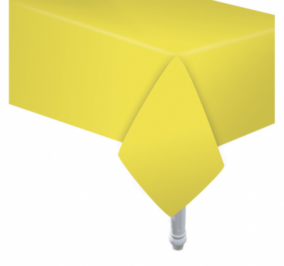 Хартиена покривка за еднократна употреба, цвят жълт 132х183 см