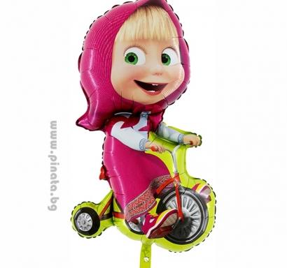 Фолиев балон Маша с колело 100 см височина /39