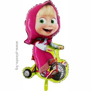 "Фолиев балон Маша с колело 100 см височина /39""/"