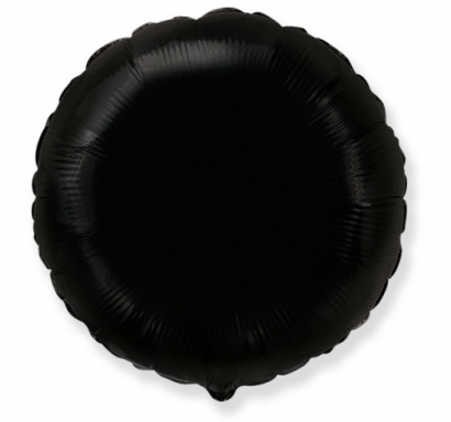 Фолиев балон кръг цвят черен, 45 см Flexmetal, /Gd/