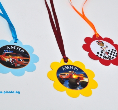 Персонализиран парти медальон Блейз / Пламъчко, 5бр. пакет