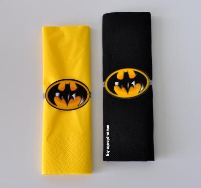 Тематични парти салфетки с облър Батман