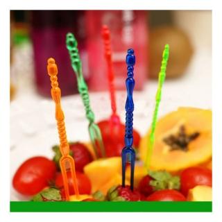 Декоративни мини парти вилички,  36бр., различни цветове и форми