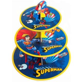 Стойка за мъфини Супермен лиценз, три нива