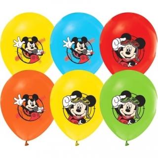 Балон с печат Мики Маус, диаметър 30 см, 5 бр. в пакет микс цветове, лицензирани