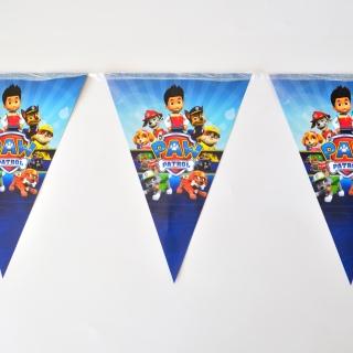 Банер гирлянд за декорация Пес Патрул, 2,00 м дължина