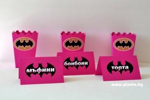 Тейбъл картичка Батман с текст или тематична декорация