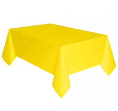Покривка за еднократна употреба, жълта неон 137х274 см